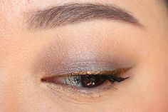 NARS Lhasa +gold eyeliner. I really like the lhasa color - it's sort of the color of the sky after a storm.