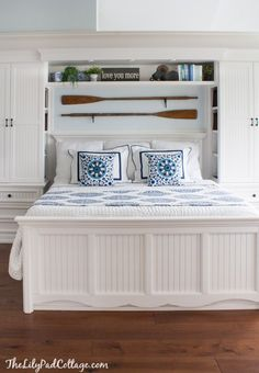 Master bedrom decor and built ins by The Lilypad Cottage
