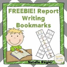 FREEBIE! Are you looking for a visual to support your students as they write reports? Use the report writing bookmarks with your students.  The bookmarks are available in colour and black and white.