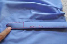 Sleeve placket and cuff Tutorial - Pauline Alice