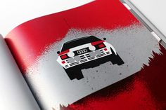 Fantastic Audi Quattro illustration by Ty Mattson.