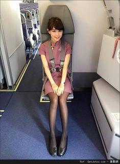 Ready for an emergency Sexy Asian Girls, Beautiful Asian Girls, Black Stockings, Flight Attendant, Beautiful Legs, Asian Woman, Asian Beauty, Female Models, Womens Fashion
