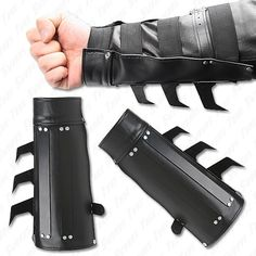 Tactical Strike Bracer - Aggressive Battle Vambrace I am NOT Batman!!