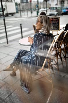 How to be (successfully) overdressed - www.BeigeRenegade.com #Paris #cafe #terrace #maxidress #celine