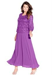 Plus Size Lace Popover Dress
