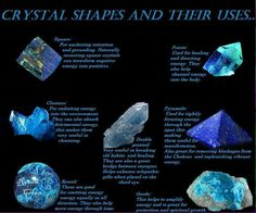 Crystal shapes & their uses
