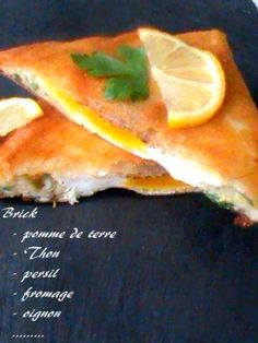 Brick tunisienne - Tunisian Food, Pasta, Moment, Hot Dog Buns, Entrees, Sandwiches, Bread, Quiches, Gourmet