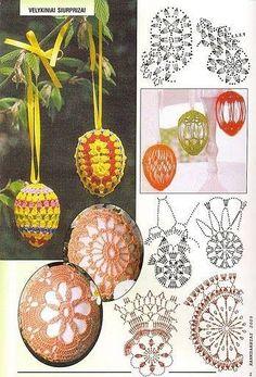 Thread Crochet, Crochet Motif, Easter Crafts, Christmas Crafts, Homemade Easter Baskets, Crochet Stone, Easter Crochet Patterns, Easter Pictures, Crochet Gifts