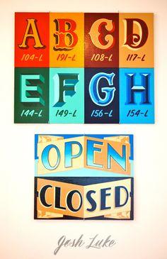 Alphabet & Open Closed - bestdressedsigns.com