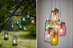 What a cute way to incorporate mason jars into an outdoor wedding.