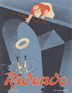 covers by Jacques Touchet for the French magazine Ridendo, c. 1934–40