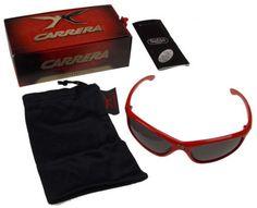 d098113d39a8 Carrera Jacob Sport Red Sunglasses Safilo Eyewear Wrap Around UVA UVB UVC  Flex