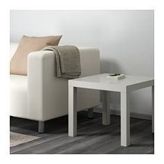 "IKEA - LACK, Side table, gray, 21 5/8x21 5/8 "", , Easy to assemble.Lightweight and easy to move."