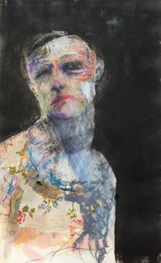 © Veronica Cay recently sold works at Anthea Polson Art gallery specialising in contemporary Australian art and sculpture Abstract Faces, Abstract Portrait, Portrait Art, Portraits, Portrait Paintings, Drawing Sketches, Drawings, Sketching, Knit Art