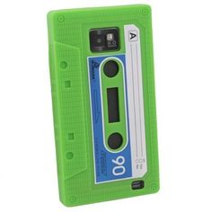 Green Cassette Silicone Skin Case For Samsung Galaxy S2 i9100