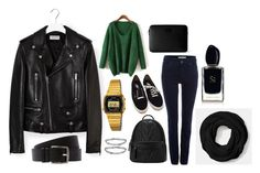 """""""My look"""" by dobrayaprosto ❤ liked on Polyvore featuring Yves Saint Laurent, Topshop, Coach, Oui, Vans, Monki, Armani Beauty and Hermès"""