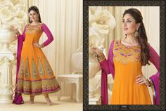 Gorgeous Kareena Kapoor Pure Georgette Anarkali Design No :- 18334 Product :- Unstitched Salwar Kameez Size :- Max 40 Fabric :- Georgette Work :- Heavy Embroidery Work Stitching Charges :- र 400 Price :- र 4688  For Sales Queries :- sales@manjaree.in OR call on 0261-3131669  For More Information :- http://manjaree.in/  Follow Our Blog :- http://manjareefashion.blogspot.in/
