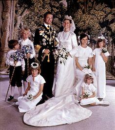 Retro weddings: King Carl XVI with Sylvia Sommerlath. Juny 19 1976.