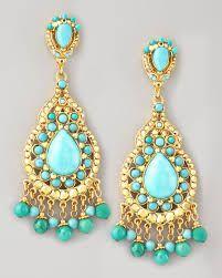 Pomegranate Hera Nine Stone Drop Earrings L2UbKqt