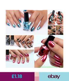 Nail Polish Women Metallic Mirror Smooth Nail Polish 6Ml Enamel Lady Nail Care Art 17 Colors #ebay #Fashion