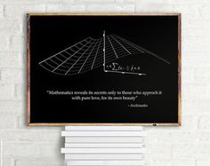 Math Poster G.H. Hardy quote Beauty in by NordicPrintStudio