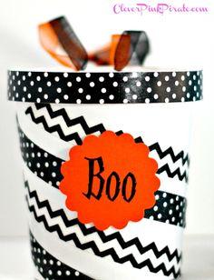Halloween Boo Buckets from www.CleverPinkPirate.com