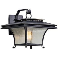 """Grammercy 11 1/2"""" High Forged Iron Outdoor Wall Light"""