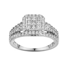 10k White Gold 1-ct. T.W. Diamond Frame Ring