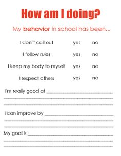 Student Midyear Review The Self Evaluation Process Goal Setting