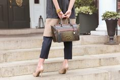 The Anna Satchel in Stout Tri-Texture | Shop it now at www.brahmin.com