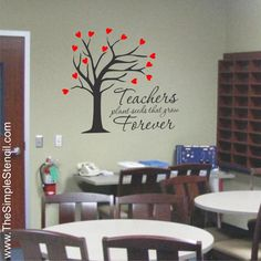Teachers plant seeds that grow forever...  A wonderful way to decorate and inspire a teachers lounge or as a gift for a new or favorite teacher in your life...
