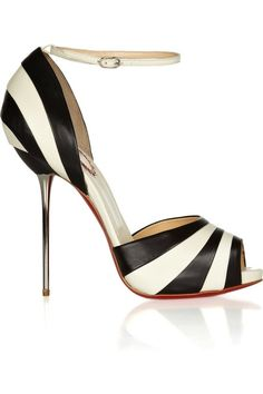 CHRISTIAN LOUBOUTIN  20th Anniversary black and white pumps by harriett