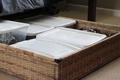 IKEA underbed storage basket!
