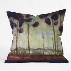 Conor O'Donnell Tree Study Five Throw Pillow