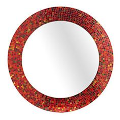 Red mosaic mirror from Pier 1. Ikea used to make one in Blue and I really want to find it