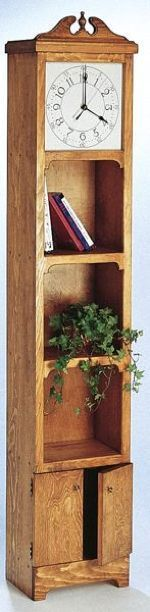 19-TCC204 - Riggs Bookcase Clock Woodworking Plan