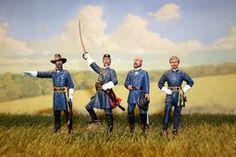 CW-003 -- Union Generals Set - McClellan, Chamberlain, Meade & Sherman.