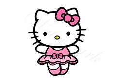 Kitty Ballerina SVG & Studio 3 Cut File Decoration Design Birthday Cutouts for Cricut Silhouette Fil Hello Kitty Backgrounds, Hello Kitty Wallpaper, Candy Labels, Hello Kitty Pictures, Hello Kitty Collection, Sanrio Characters, Little Twin Stars, My Melody, Cute Designs