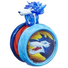 Blazing Team Battlespin Wolf Yo-Yo. Features a retractable string for easy play. Spirit ring secures on finger for fast and controlled play action. Includes 1 toy.