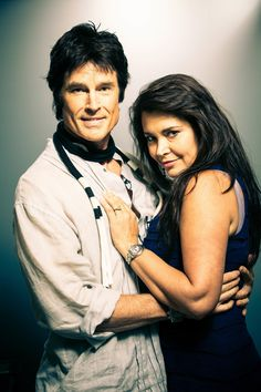 "From ""The Bold & the Beautiful,"" Ronn Moss and the love of his life, wife Devin DeVasquez"