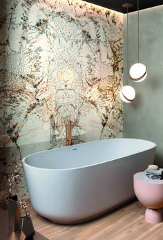 The multicoloured beauty of high-quality marble is the inspiration behind the Nobile collection ✨ Available in five astounding colours, Nobile allows full creative control to express your inner designer and decorate your dream space. Bathroom Gallery, Marble Effect, Contemporary, Modern, Master Bath, Porcelain, Bathtub, Inspiration, Mosaics
