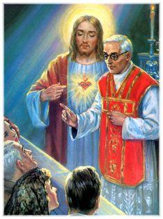 """10ª Promessa: """"Darei aos sacerdotes que praticarem especialmente essa devoção o poder de tocar os corações mais endurecidos""""."""