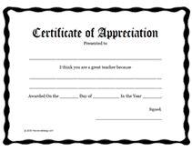Parent Appreciation Certificates | Trend Home Design And Decor