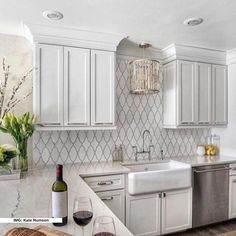 White kitchen is never a wrong idea. The elegance of white kitchens can always provide . Elegant White Kitchen Design Ideas for Modern Home White Kitchen Cabinets, Kitchen Cabinet Design, Kitchen Cupboard, Cupboard Ideas, Cabinet Decor, Kitchen Sink, Metal Cabinets, White Kitchen Backsplash, Ranch Kitchen