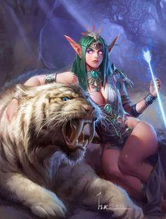 Tyrande Whisperwind <High Priestess of Elune> (by Haixiang mu )