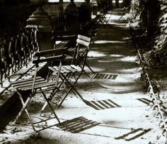 Kertész, André Paris, Chairs, Medici Fountain, 1926