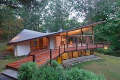 This one pretty awesome, Mid-century modern house in New Canaan by James Evans.
