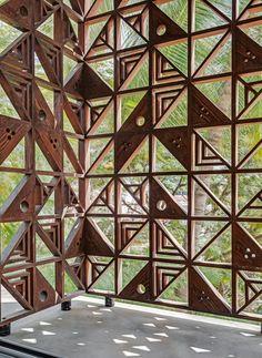 Exterior Wall Design, Facade Design, House Design, Cladding Design, Wall Cladding, Modern Architecture House, Facade Architecture, Wall Partition Design, Breeze Block Wall