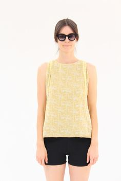 Lina Rennell Hoda Silk Tank Collage