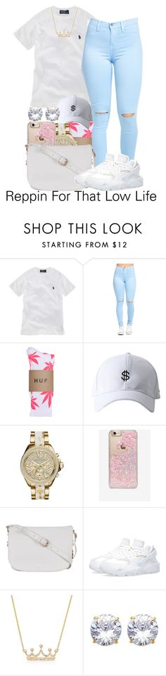 """""""Reppin For That Low Life"""" by bbyblu-glitch ❤ liked on Polyvore featuring Ralph Lauren, HUF, Michael Kors, Skinnydip, Atmos&Here, NIKE and Ross-Simons"""